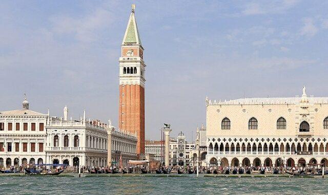 Zicht op Venetië