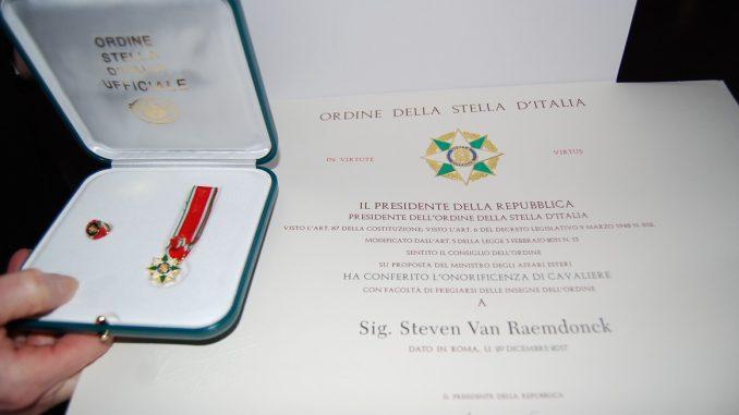 De onderscheiding Cavaliere dell'Ordine della Stella d'Italia