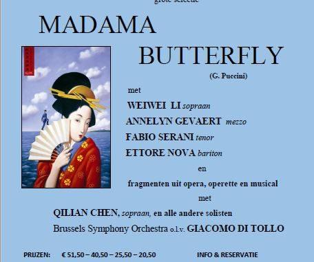 Affiche Madama Butterfly Gent