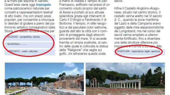 Glossario bij alle Italiaanse artikels