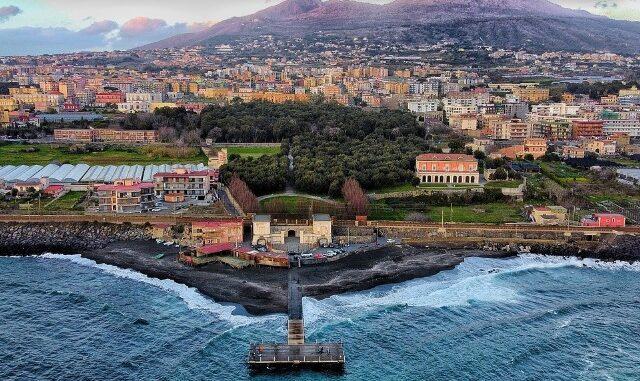Baai van Napels, zicht op Vesuvius