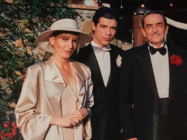 Met acteurs vader en zoon Vittorio e Alessandro Gassman tijdens opname film