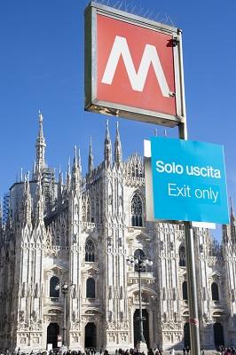 Milaan, metrohalte Dom