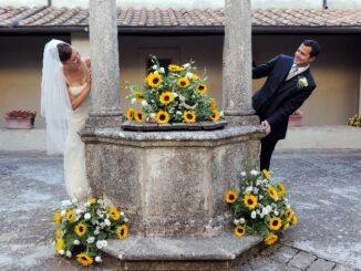 Eline en Gianluca en hun trouwfoto