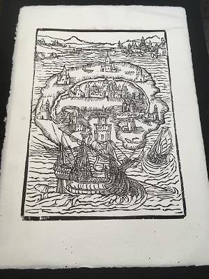 Materiaal voor een lino in de Tipografia Grifani Donati