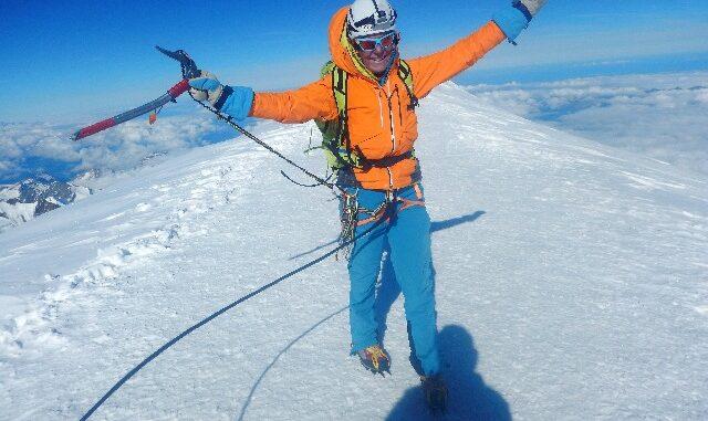 Micheline op de Mont Blanc
