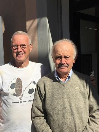 De schrijver en Giuliano Mencarelli