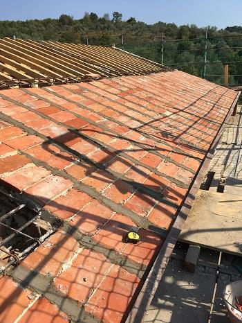 Pianeli op het dakgebinte