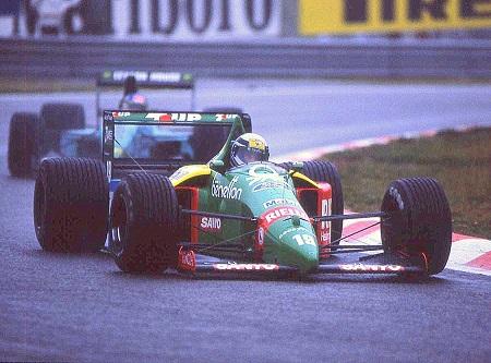 Alessandro Nannini in 1989 tijdens de GP van België