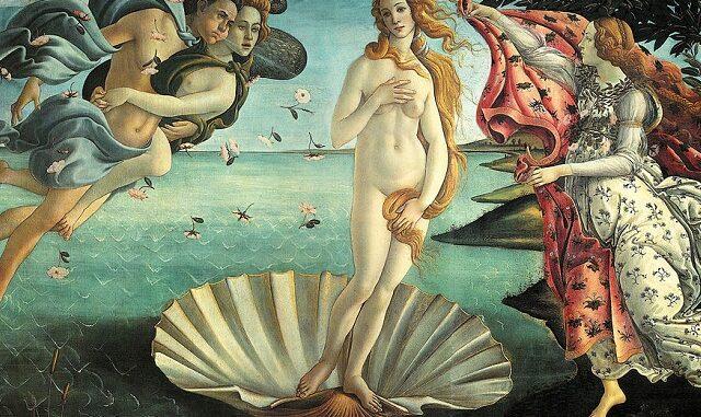 De geboorte van Venus door Botticelli